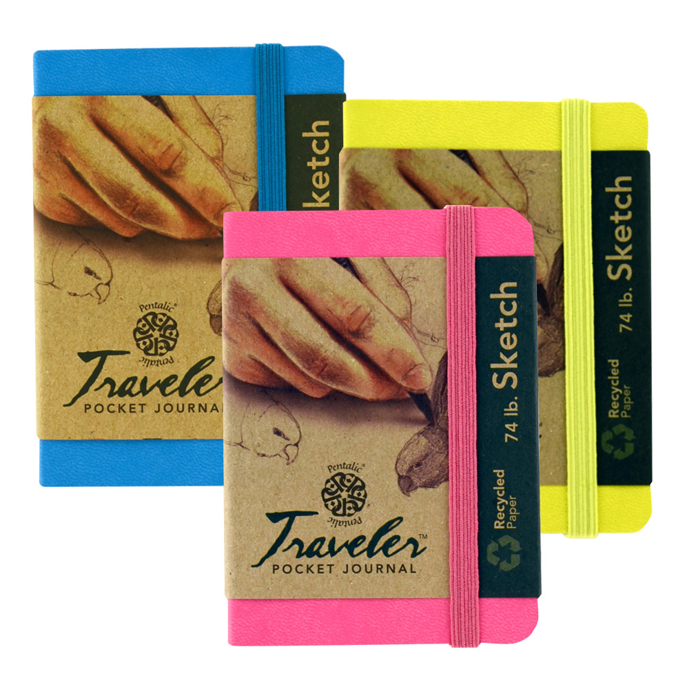 Travelers Pocket Journal 3 Pk Brights