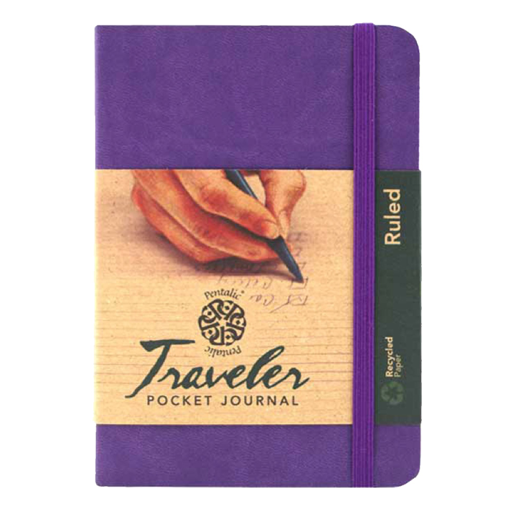 Travelers Pocket Journal Ruled 4X6 Violet