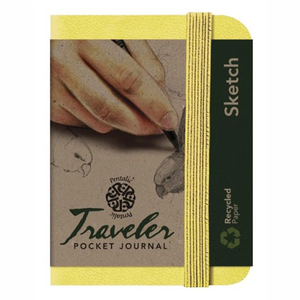 Travelers Pocket Journal 4X3 Citrine Yellow