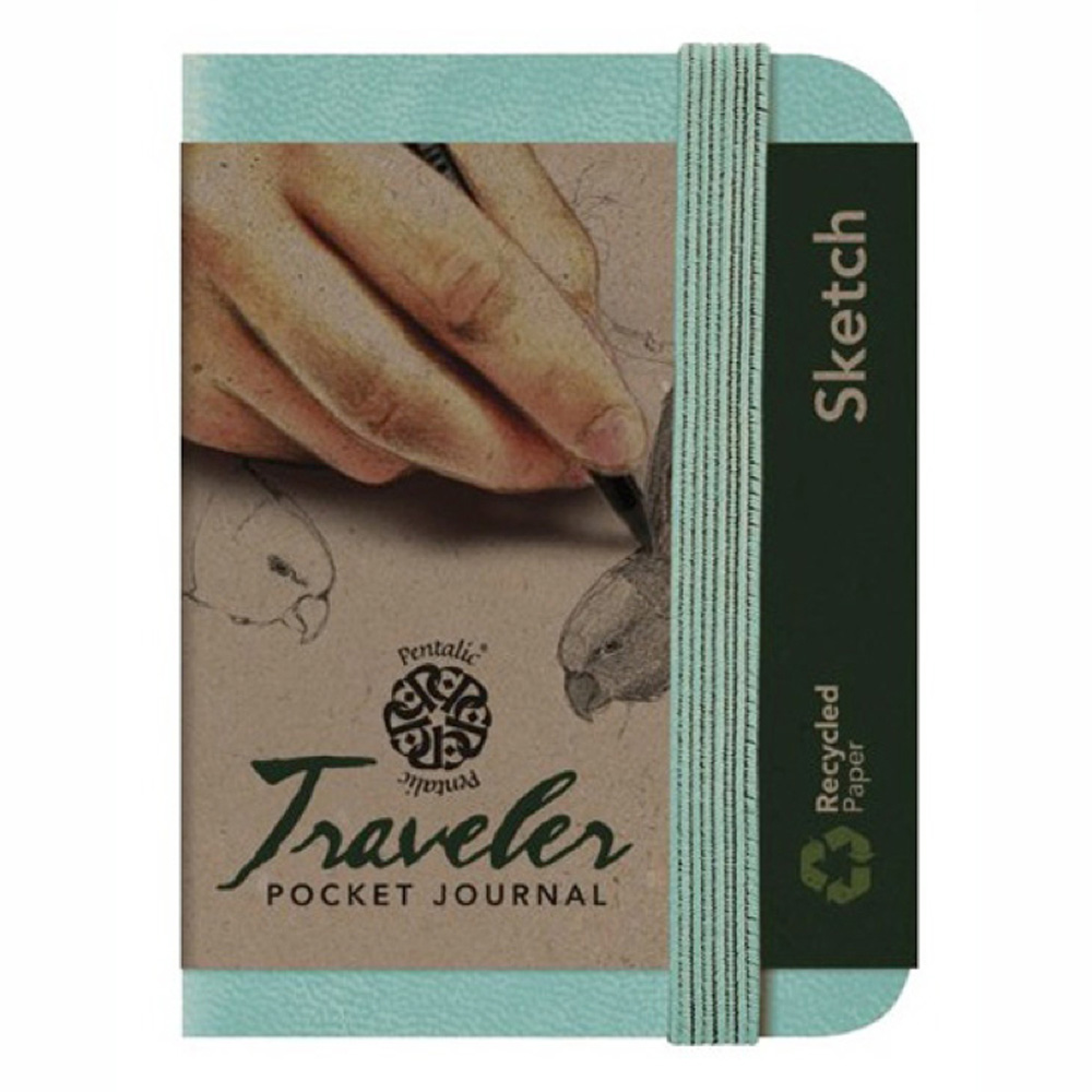 Travelers Pocket Journal 4X3 Turquoise