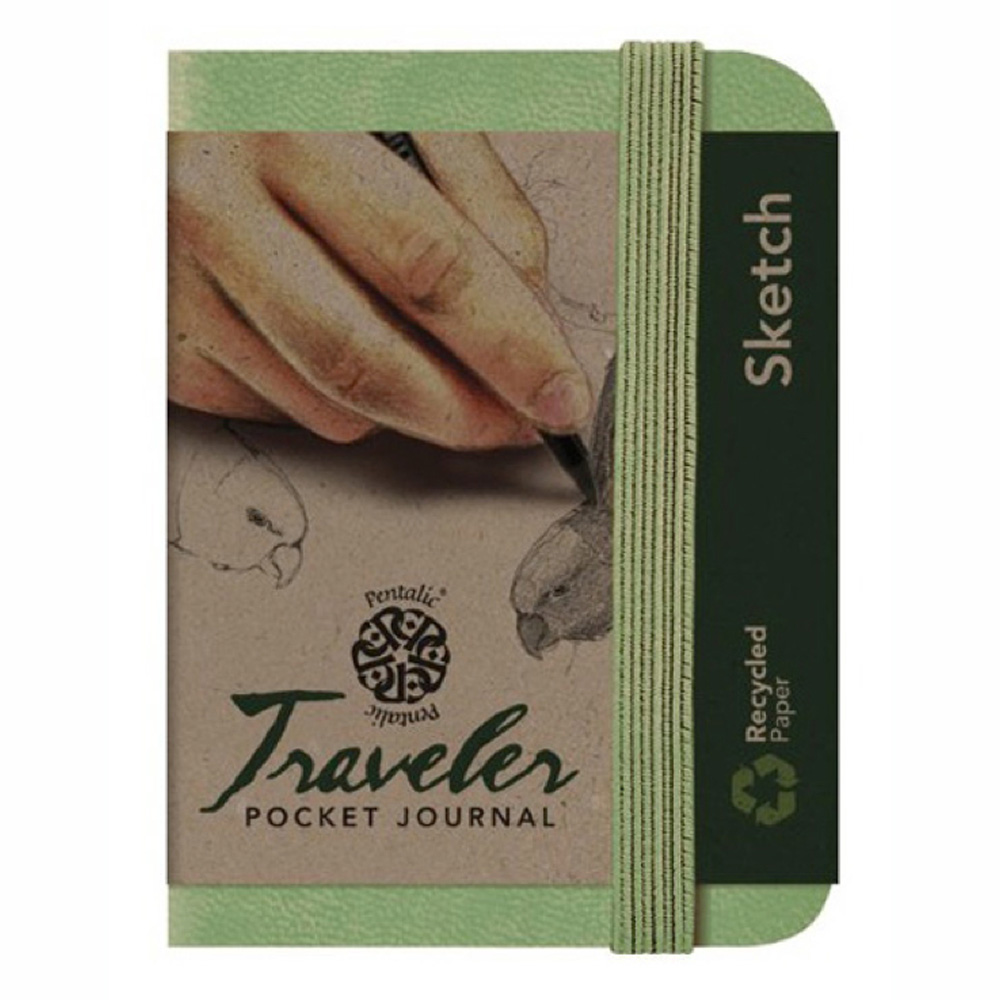 Travelers Pocket Journal 4X3 Olive Green