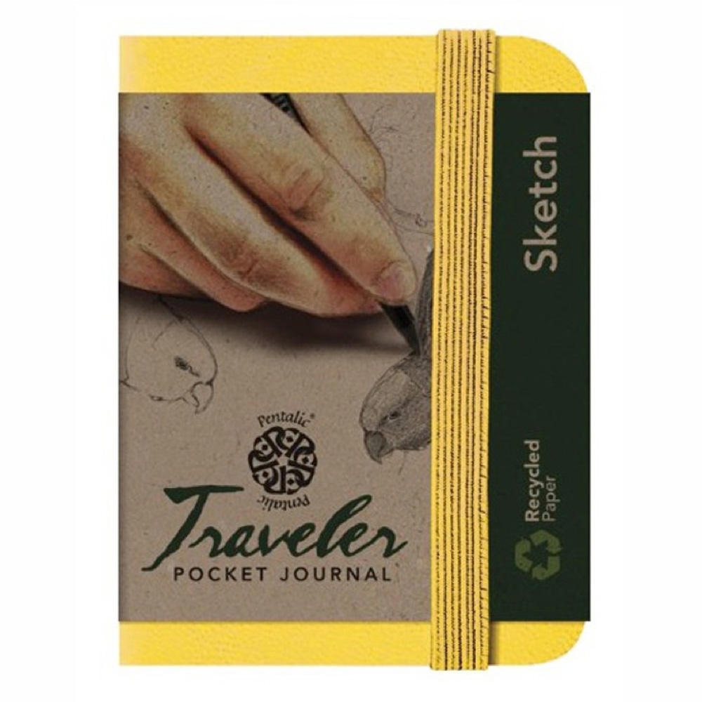 Travelers Pocket Journal 4X3 Yellow Gold