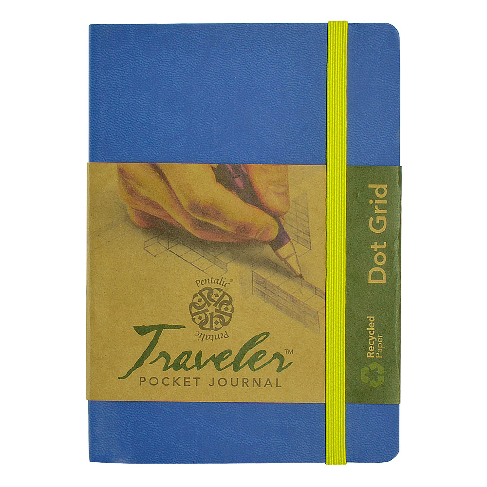 Travelers Dot Grid Journal 6X4 Denim Blue