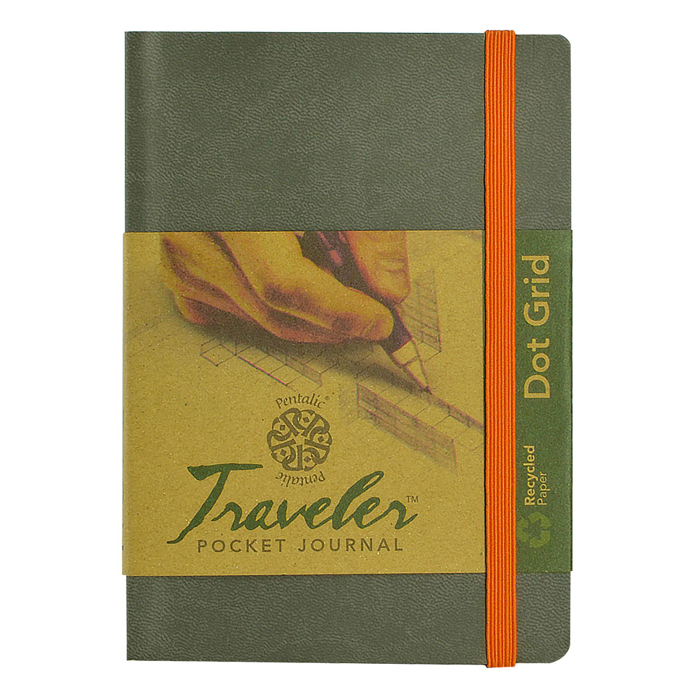 Travelers Dot Grid Journal 6X4 Gray