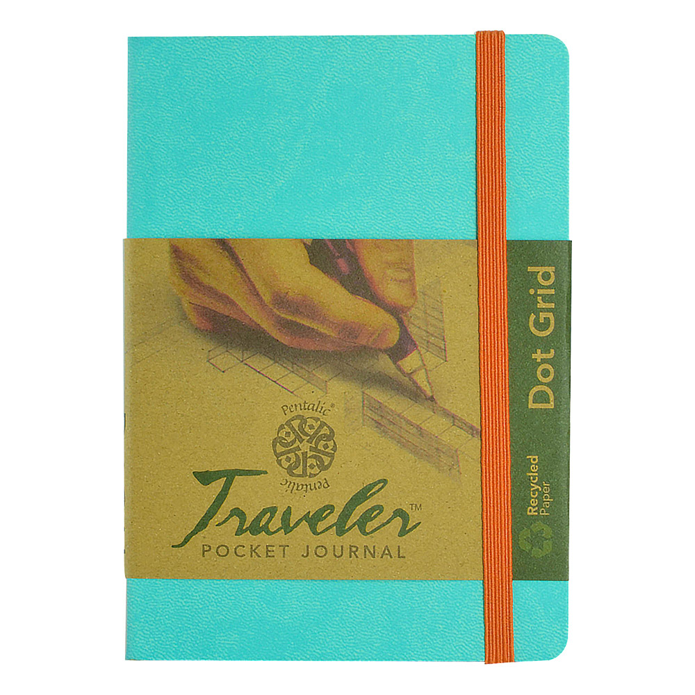 Travelers Dot Grid Journal 6X4 Turquoise