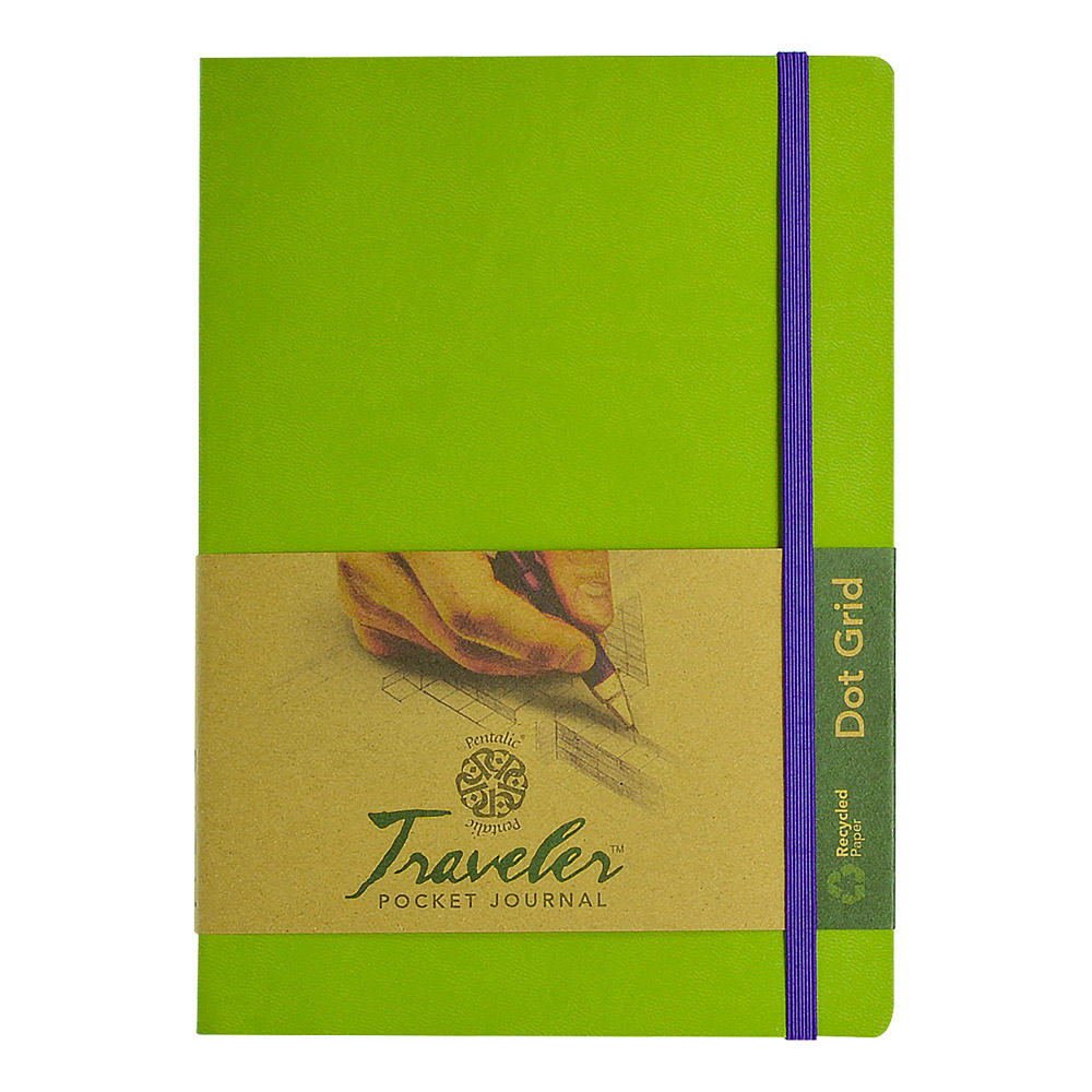 Travelers Dot Grid Journal 8X6 Olive Green