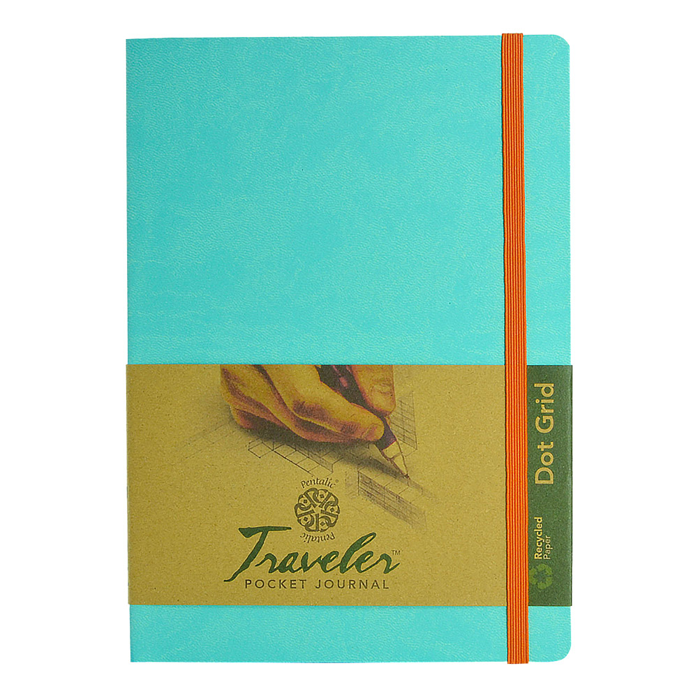 Travelers Dot Grid Journal 8X6 Turquoise