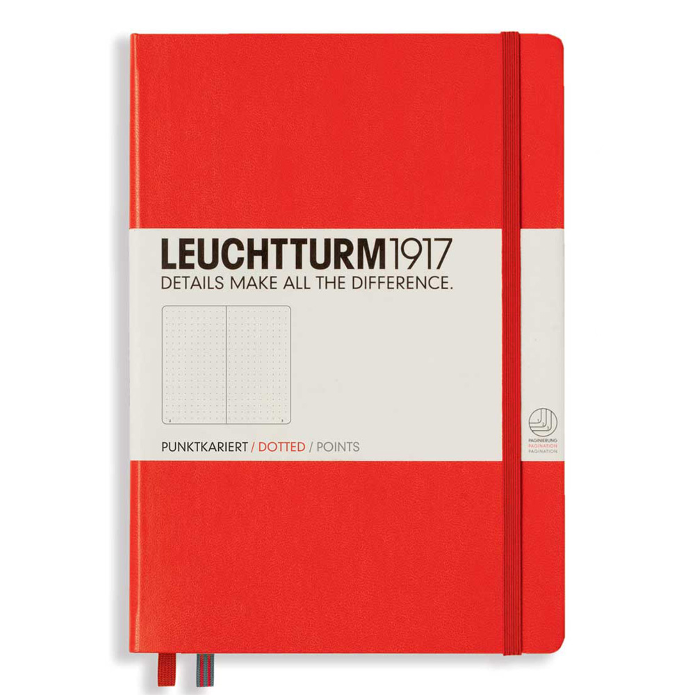 Leuchtturm Medium Hardcover Dots Red