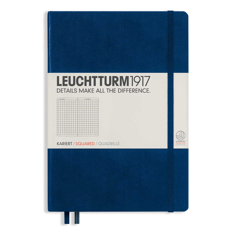 Leuchtturm Medium Hardcover Squared Navy