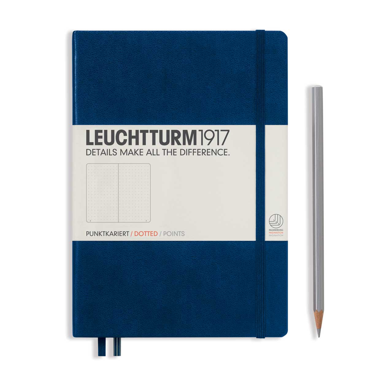 Leuchtturm Medium Hardcover Dots Navy