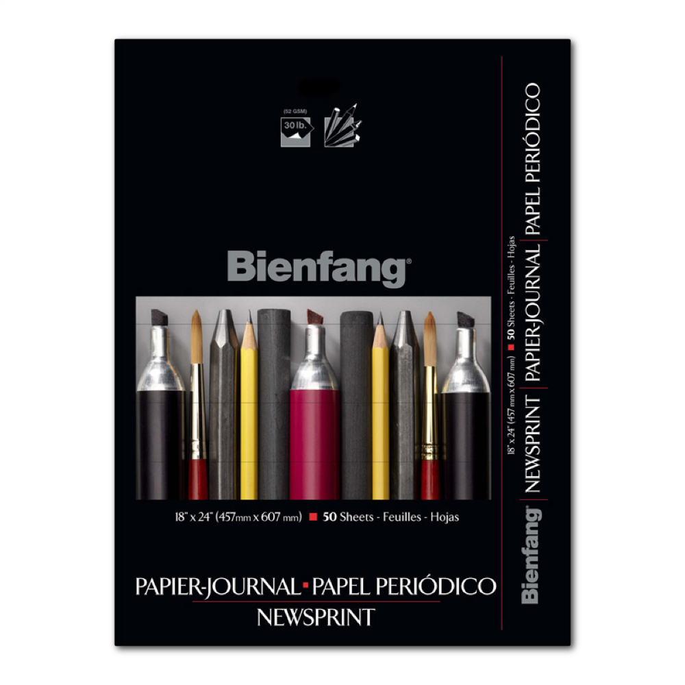 Bienfang Newsprint Pad 18X24 50 Sheets