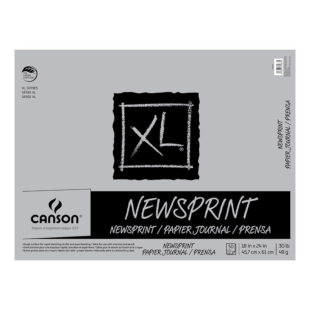 Canson Xl Newsprint Rough 18X24 50Shts