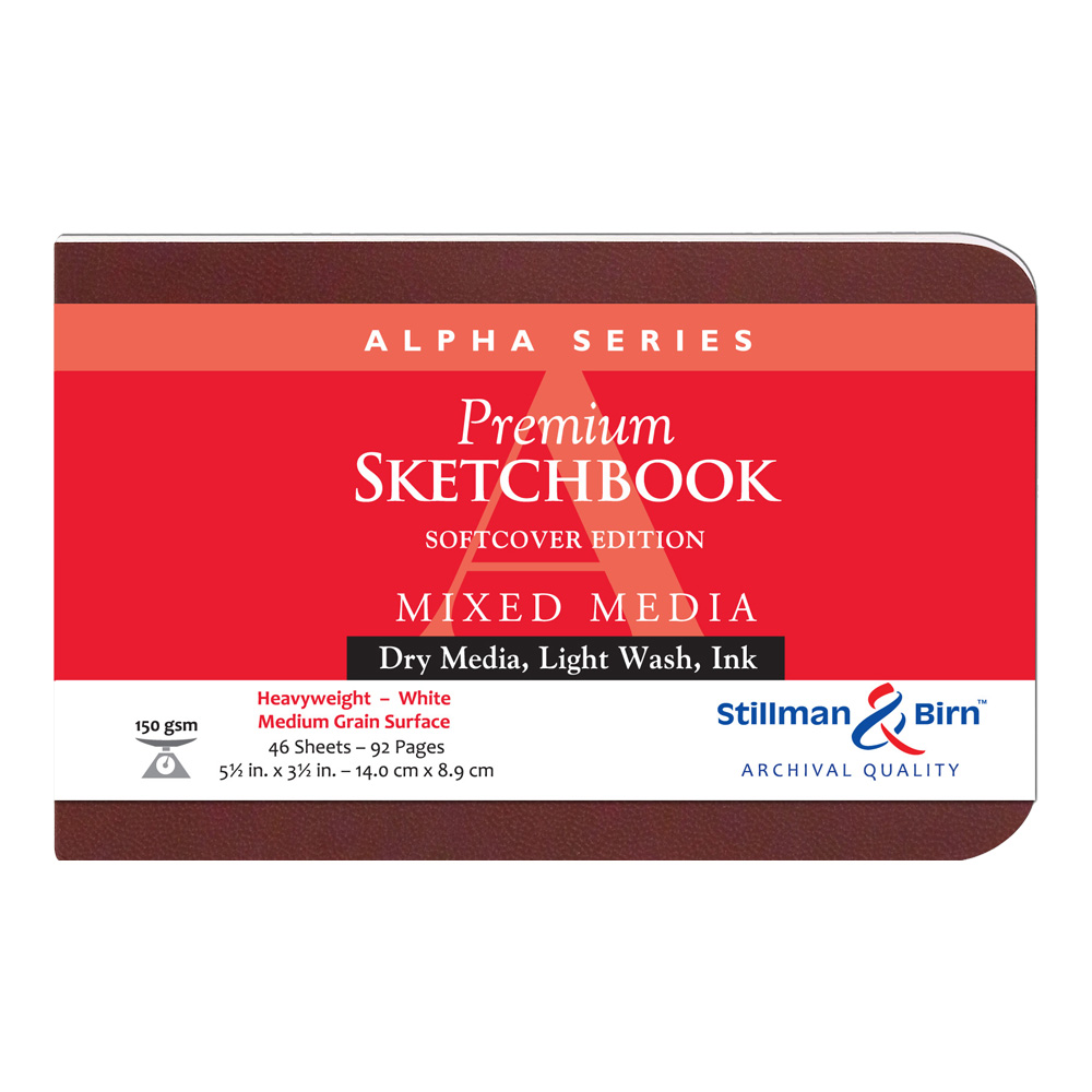 Alpha Softcover Sketchbook 5.5X3.5 Ls