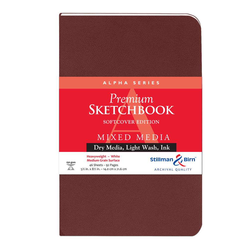 Alpha Softcover Sketchbook 5.5X8.5