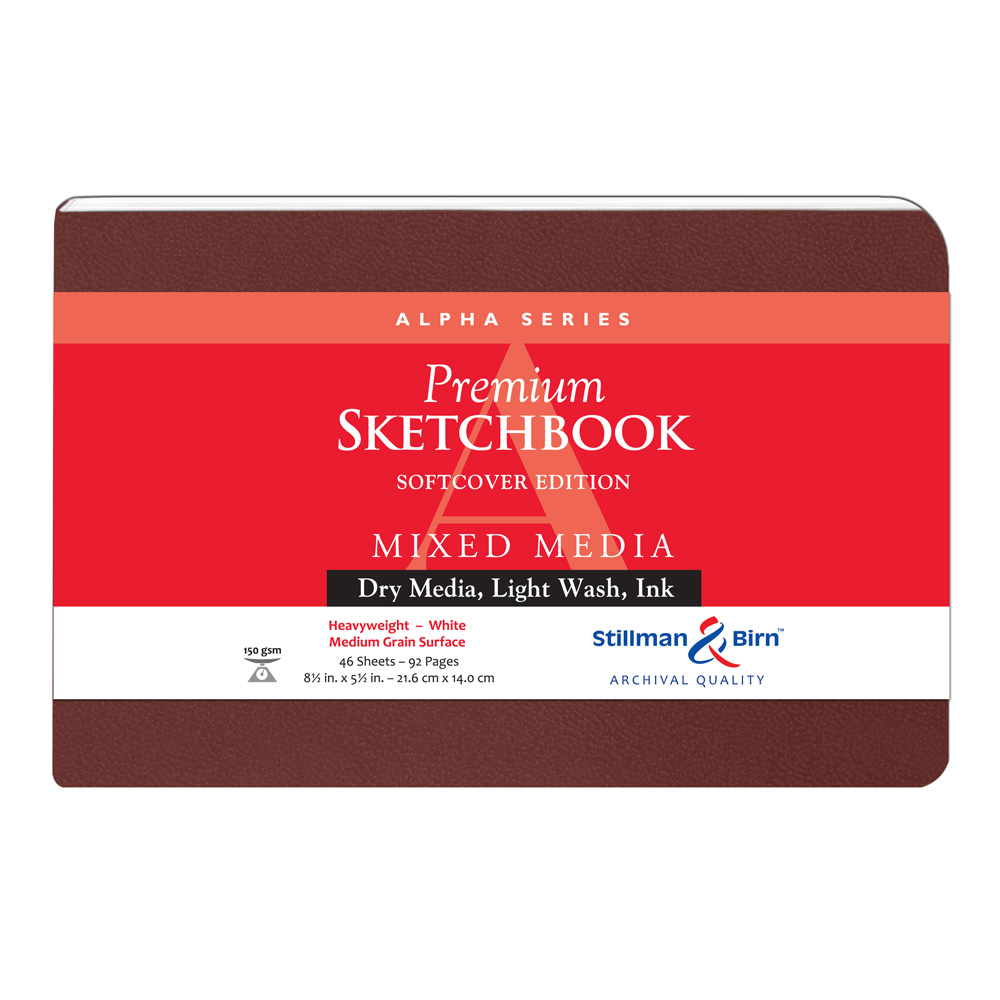 Alpha Softcover Sketchbook 8.5X5.5 Ls