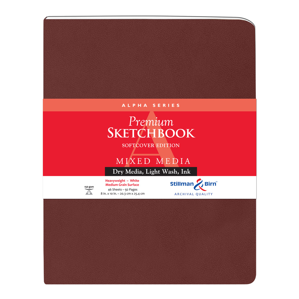 Alpha Softcover Sketchbook 8X10