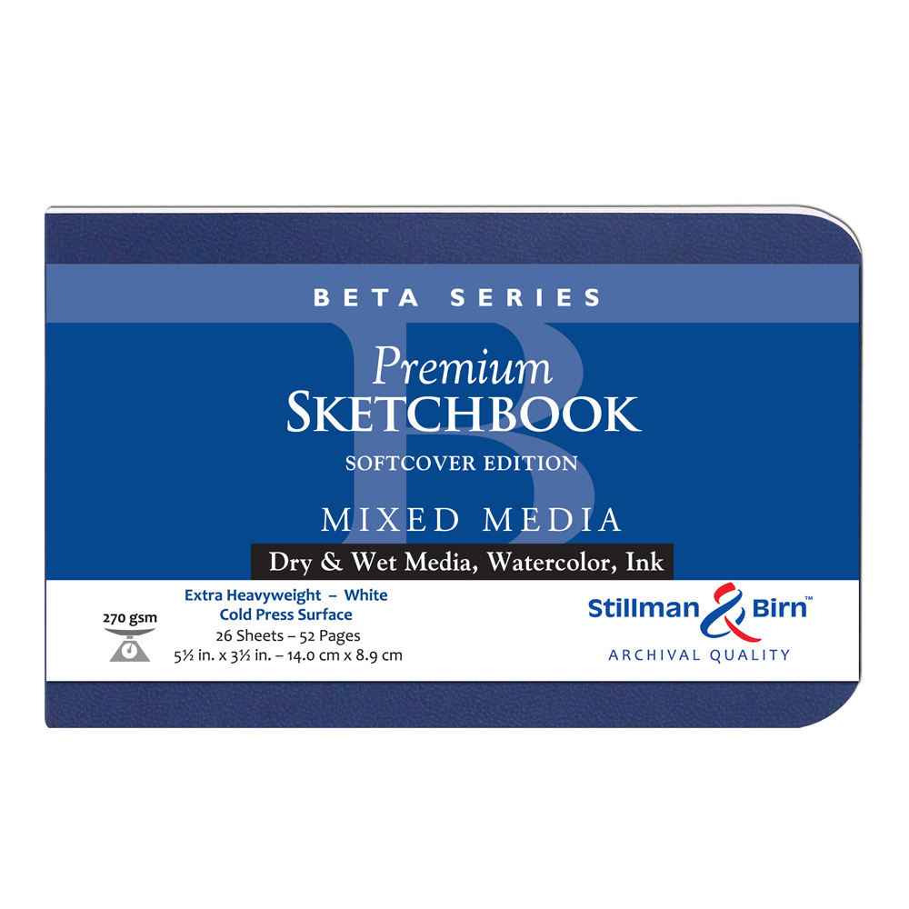 Beta Softcover Sketchbook 5.5X3.5 Ls