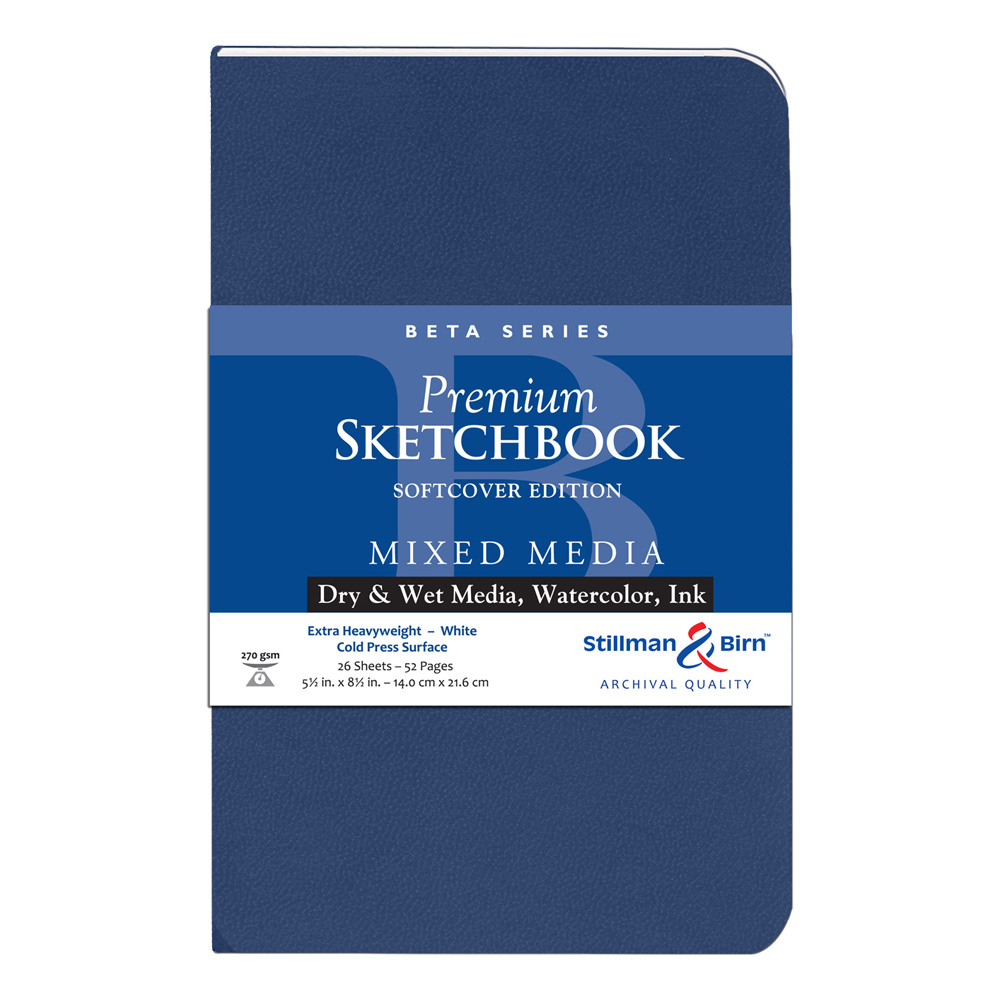 Beta Softcover Sketchbook 5.5X8.5