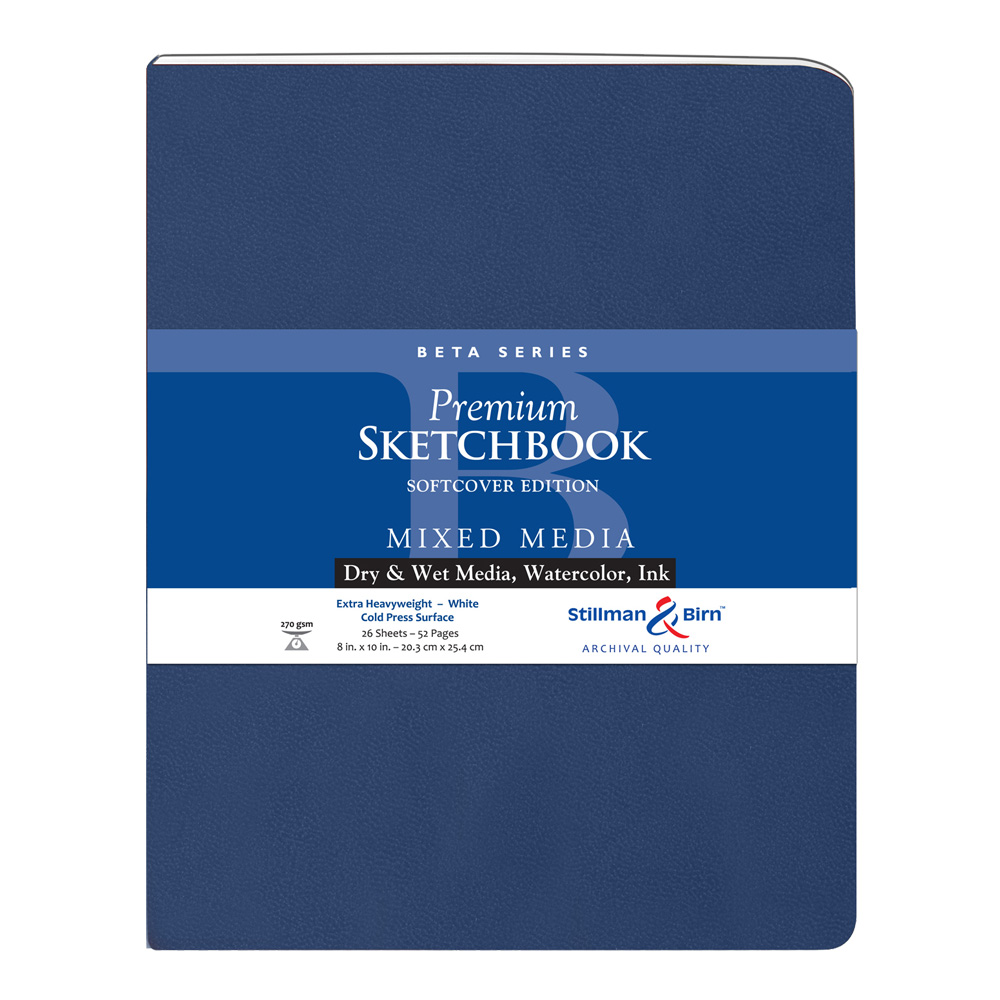 Beta Softcover Sketchbook 8X10