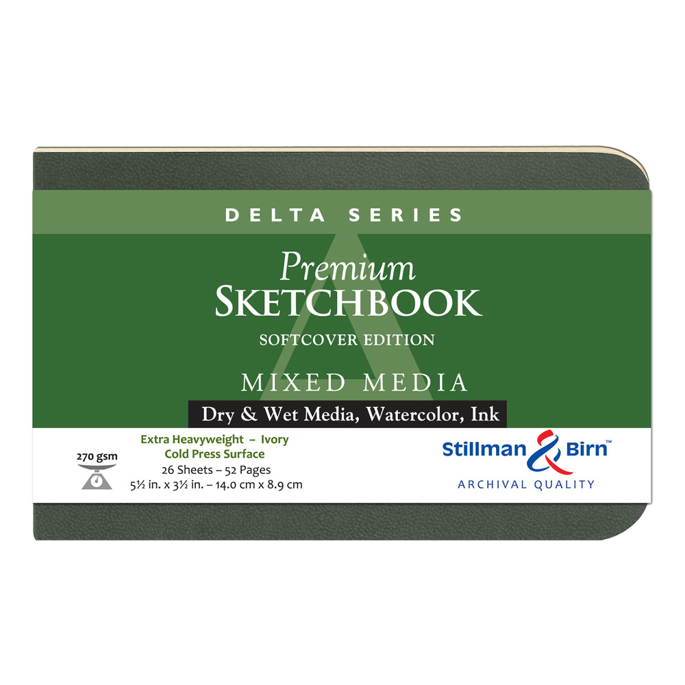 Delta Softcover Sketchbook 5.5X3.5 Ls