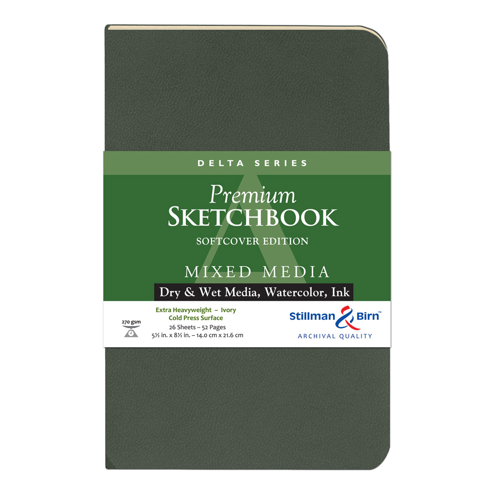 Delta Softcover Sketchbook 5.5X8.5