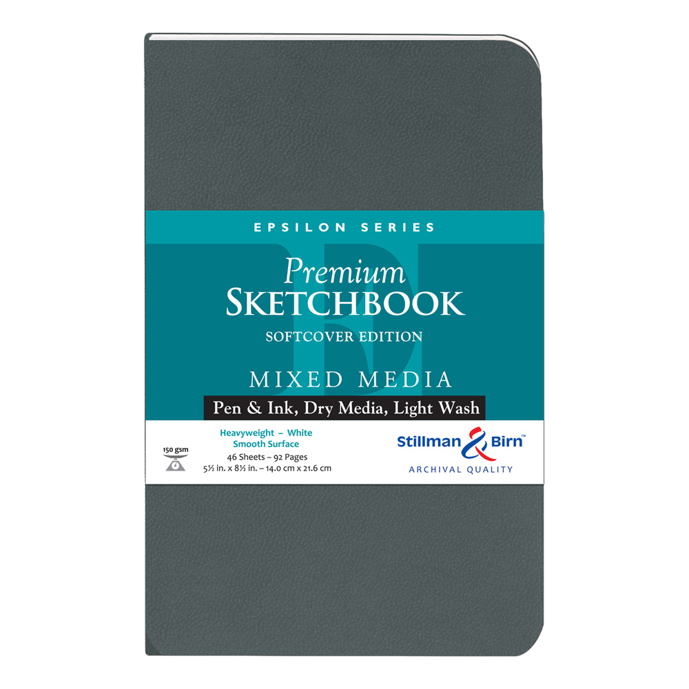 Epsilon Softcover Sketchbook 5.5X8.5