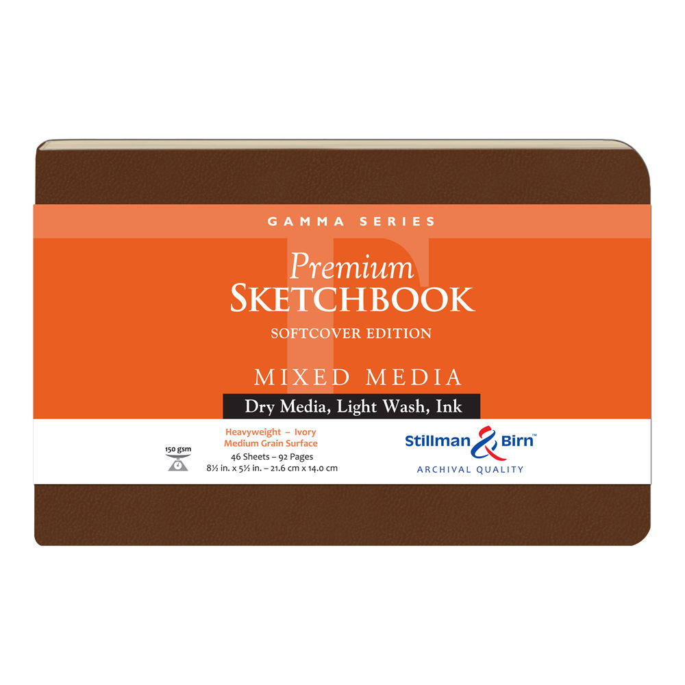 Gamma Softcover Sketchbook 8.5X5.5 Ls