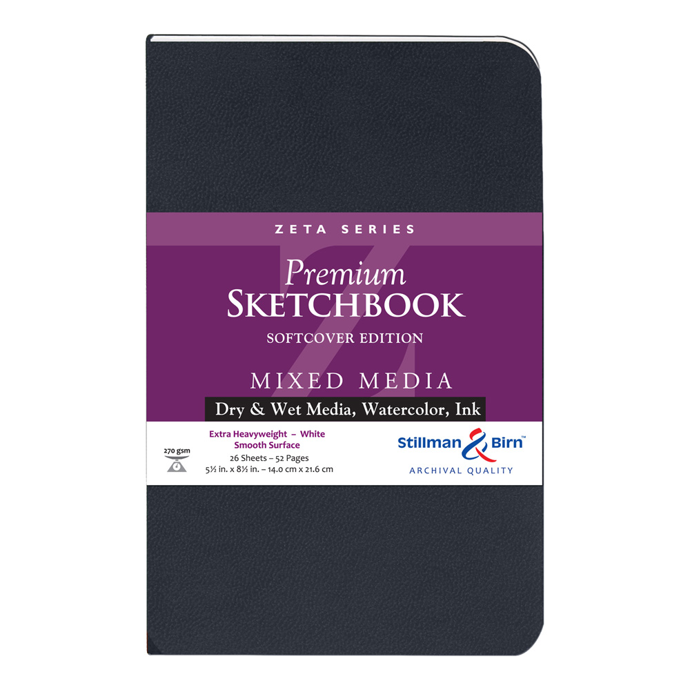 Zeta Softcover Sketchbook 5.5X8.5