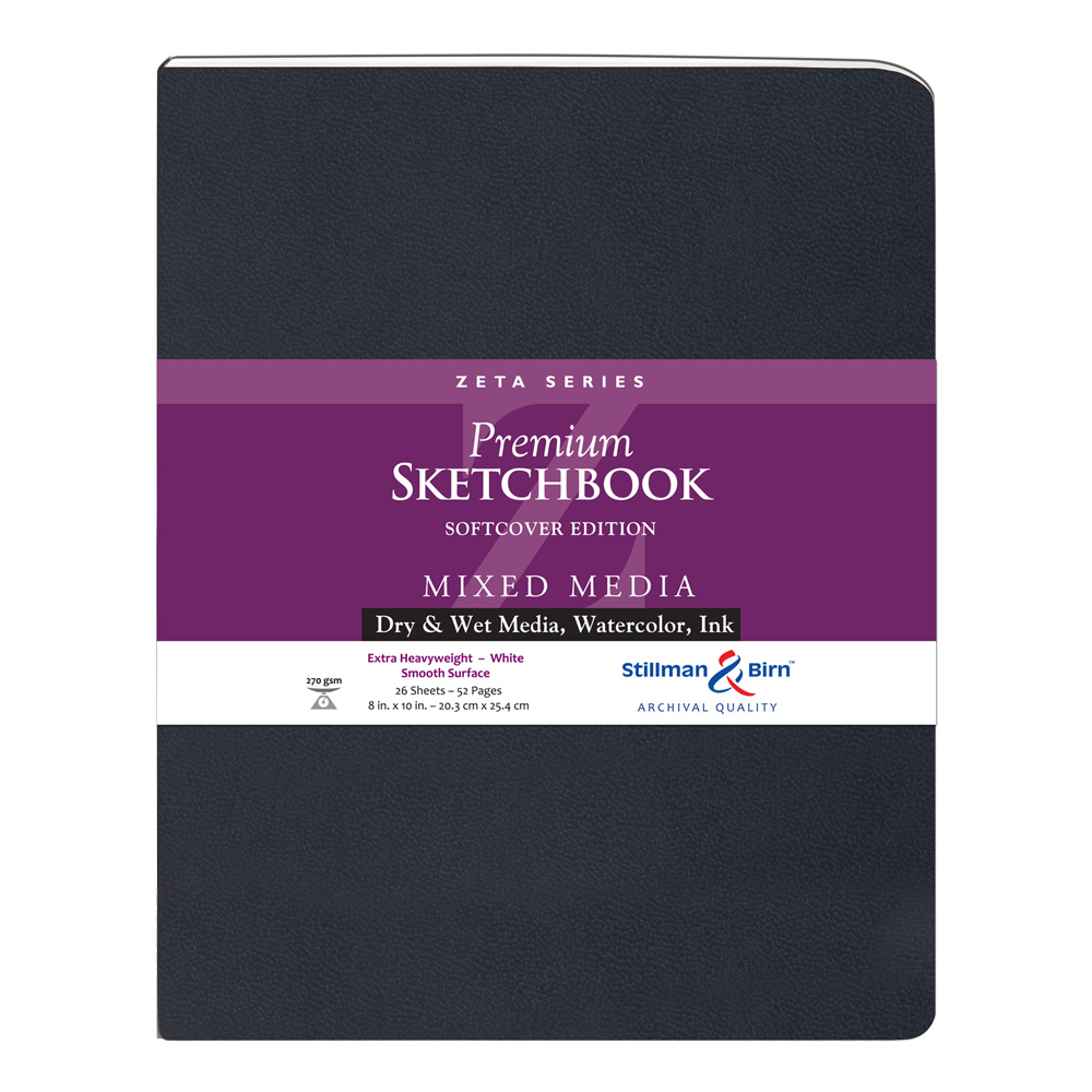 Zeta Softcover Sketchbook 8X10