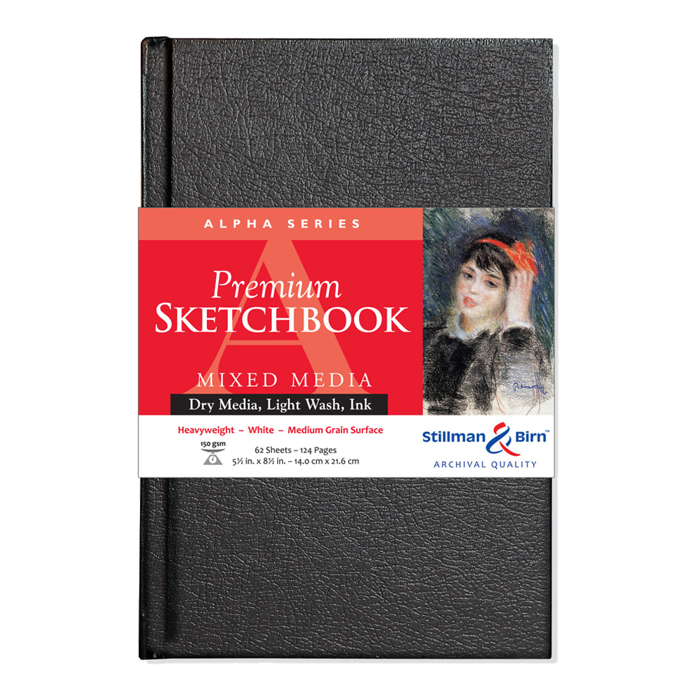 Alpha Hardbound Sketchbook 5.5X8.5