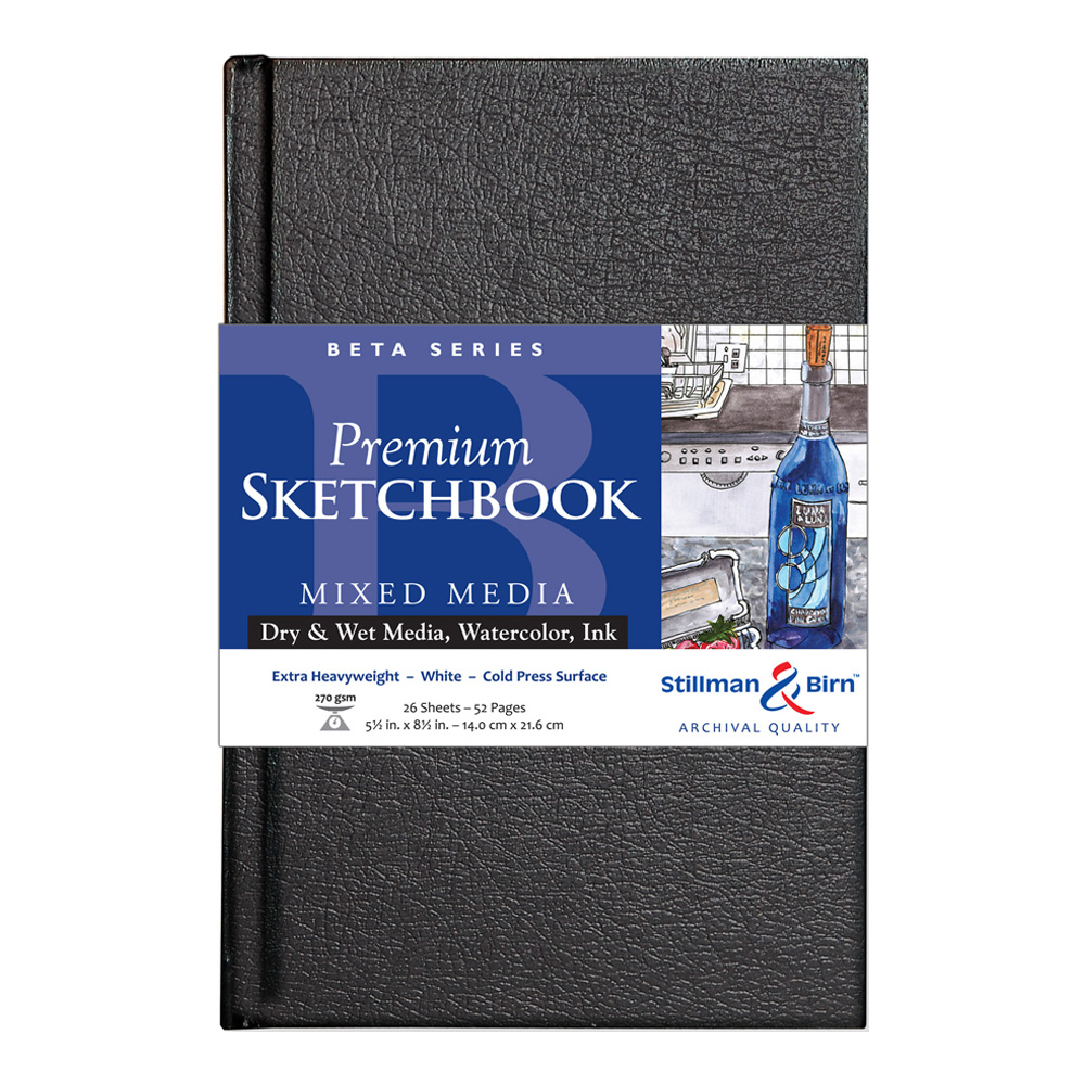 Beta Hardbound Sketchbook 5.5X8.5