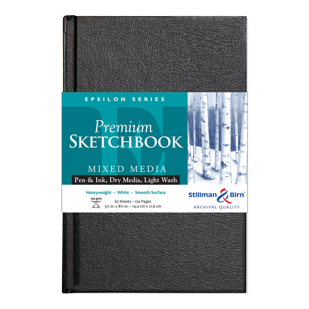 Epsilon Hardbound Sketchbook 5.5X8.5