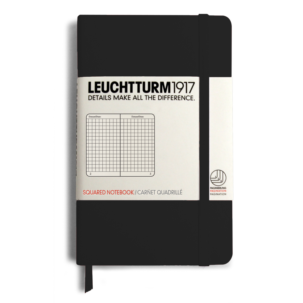 Leuchtturm Pocket Hardcover Squared Black