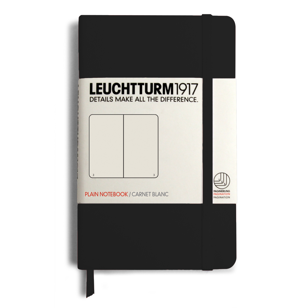Leuchtturm Pocket Hardcover Plain Blk