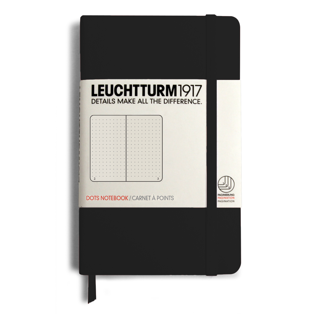 Leuchtturm Pocket Hardcover Dots Black