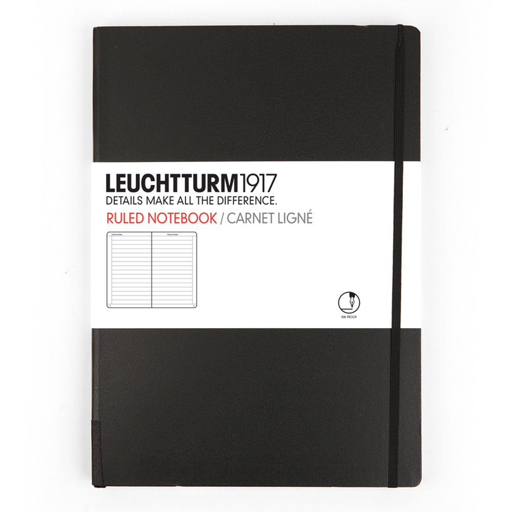 Leuchtturm Medium Hardcover Lined Black