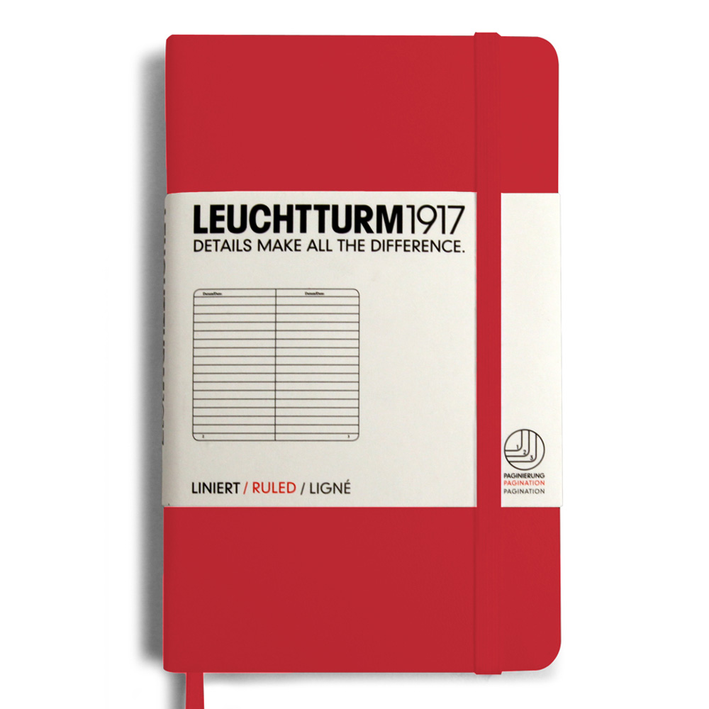 Leuchtturm Pocket Hardcover Lined Red