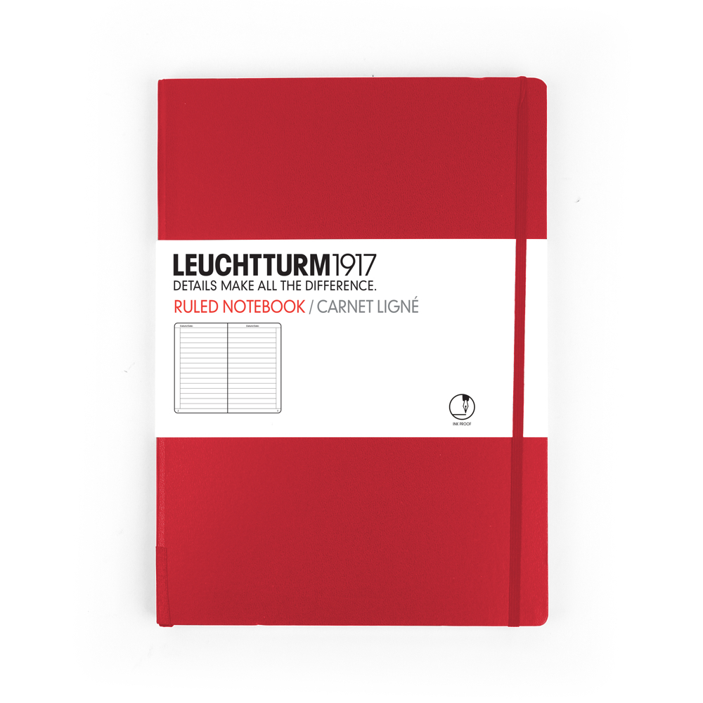 Leuchtturm Medium Hardcover Lined Red