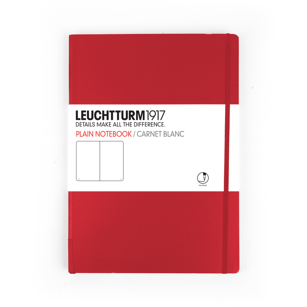 Leuchtturm Medium Hardcover Plain Red