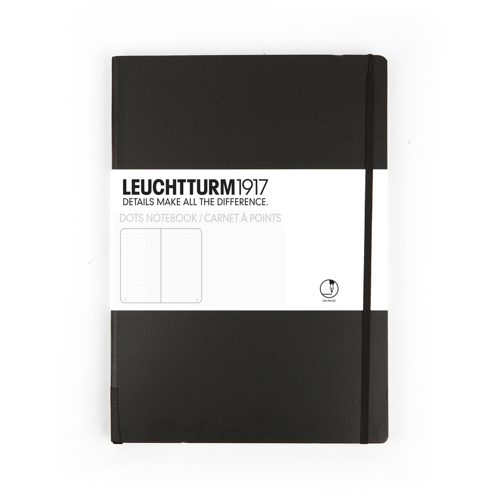 Leuchtturm Medium Hardcover Dots Black