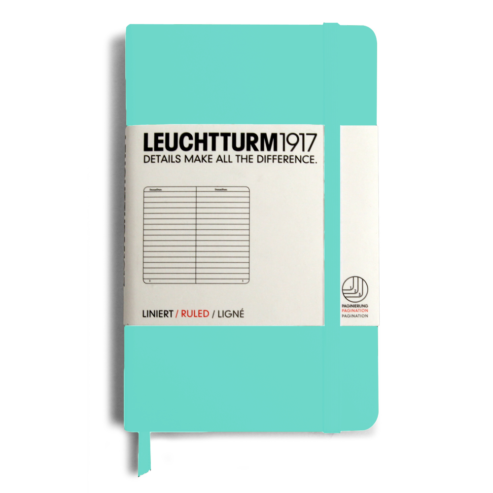 Leuchtturm Pocket Hardcover Lined Light Blue