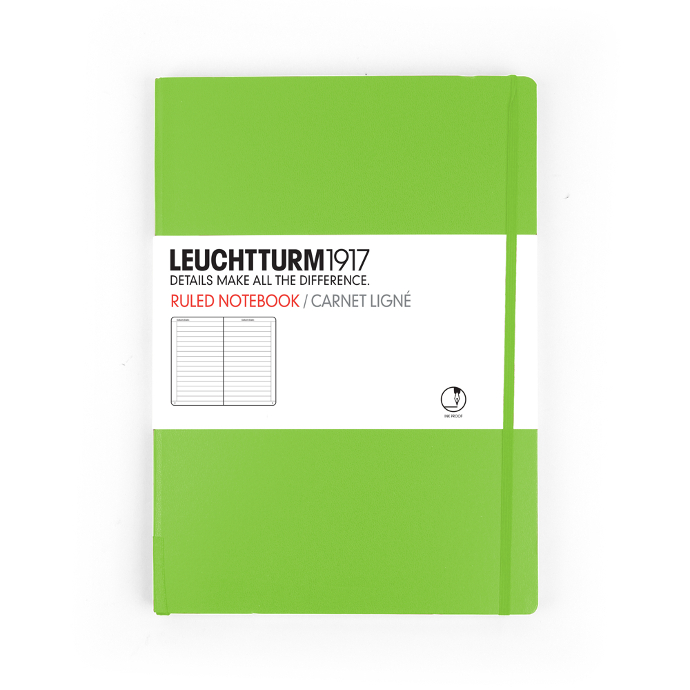 Leuchtturm Large Hardcover Lined Green