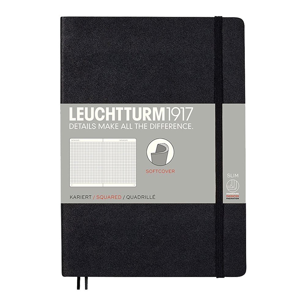 Leuchtturm Pocket Soft Cover Squared Black