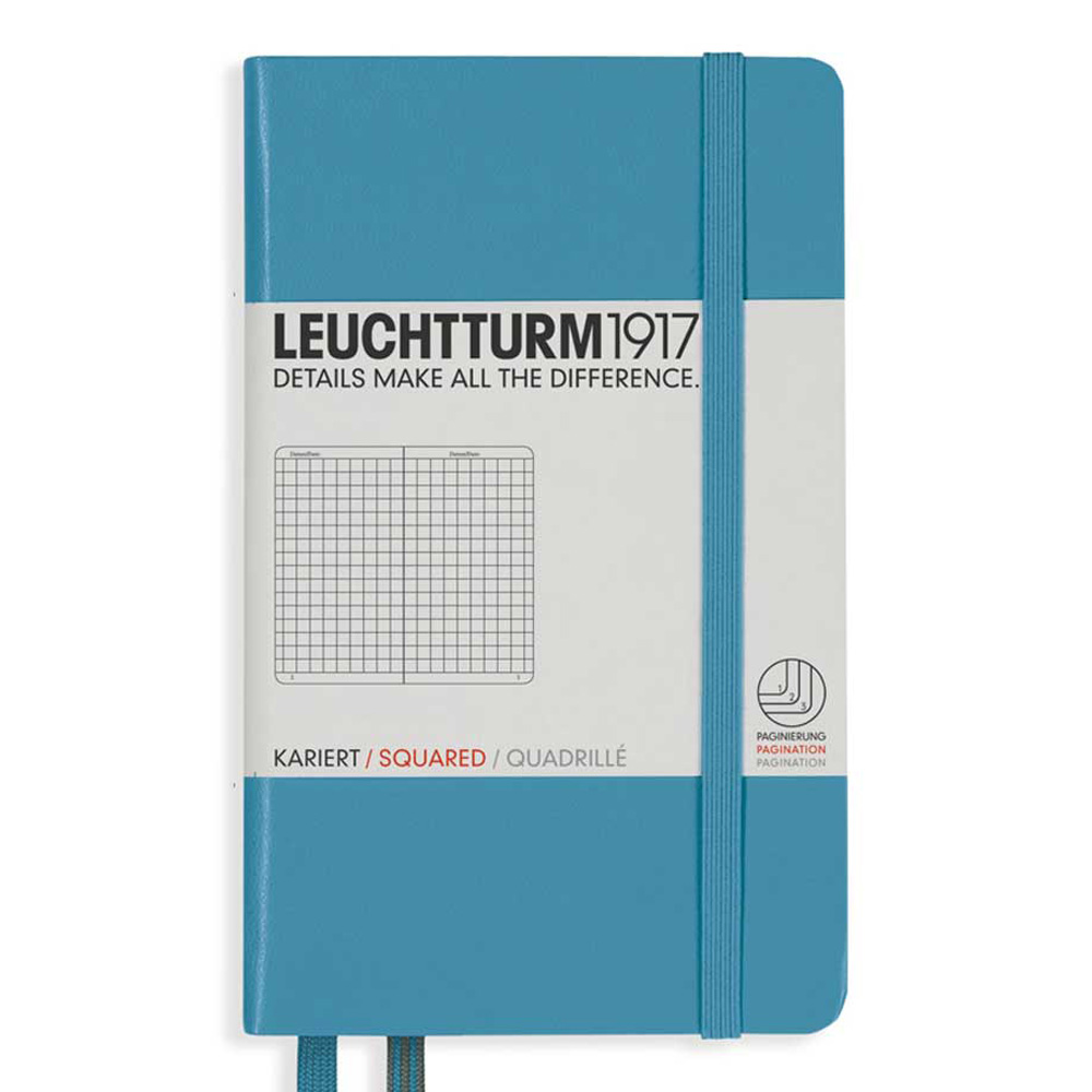 Leuchtturm Pocket Hard Squared Nordic Blue