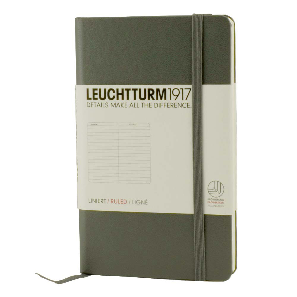 Leuchtturm Pocket Hardcover Lined Anthracite