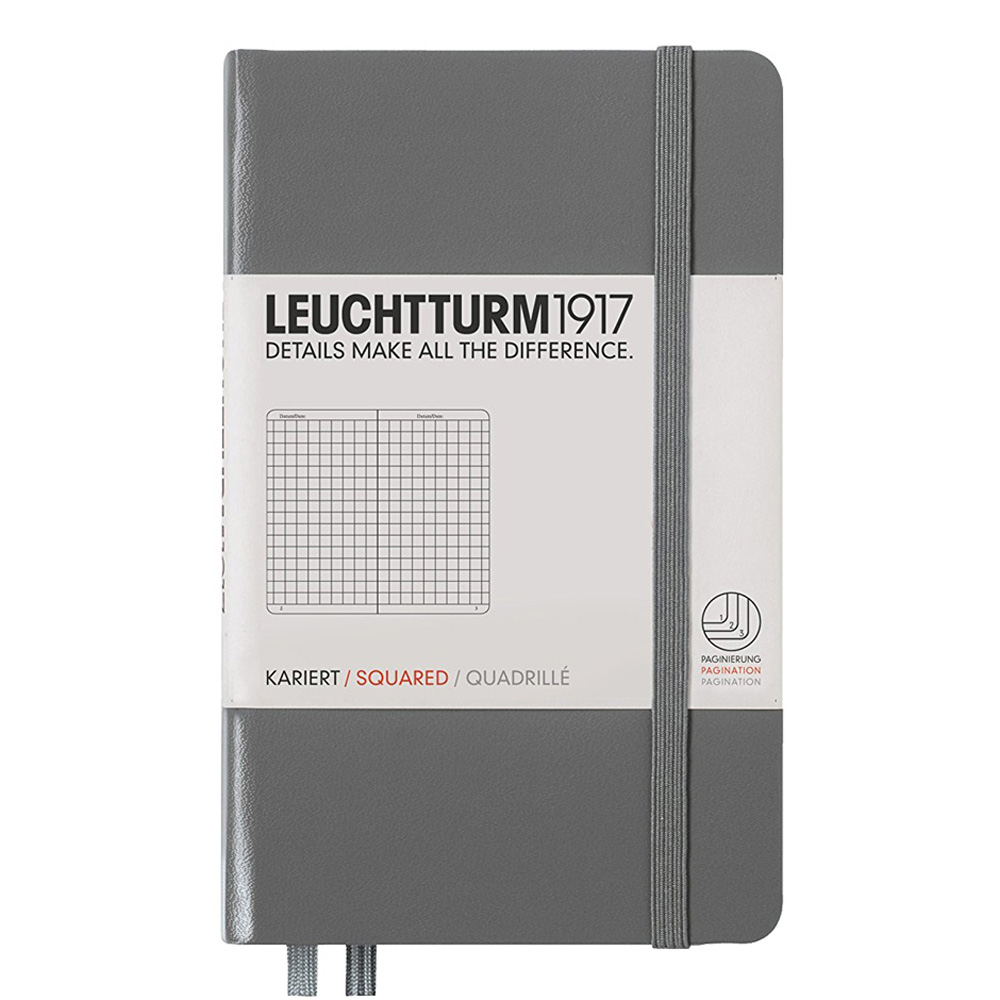 Leuchtturm Pocket Hardcover Squard Anthracite