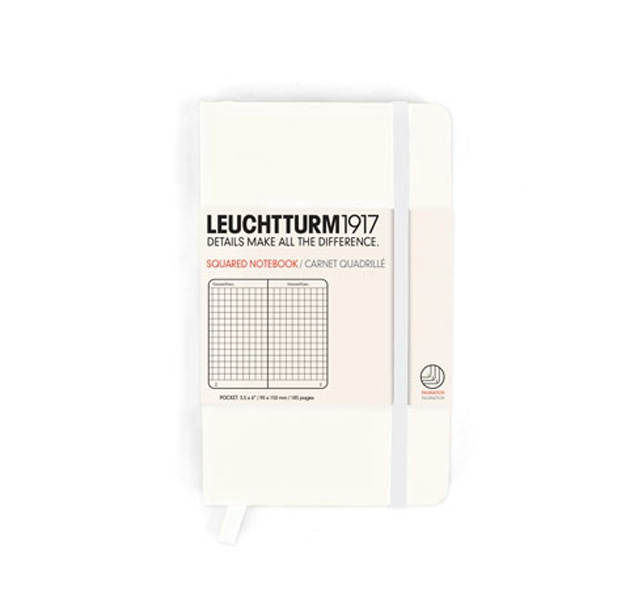 Leuchtturm Pocket Hardcover Squared White