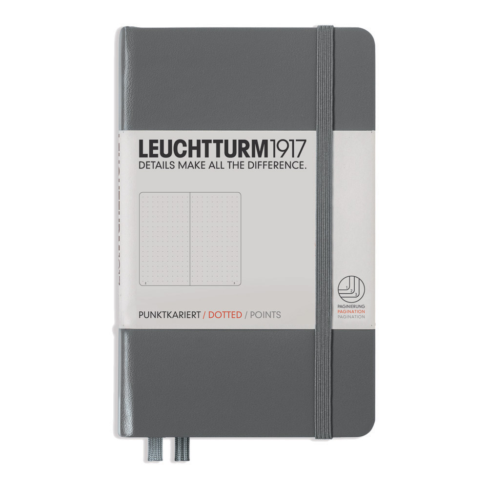 Leuchtturm Pocket Hardcover Dots Anthracite