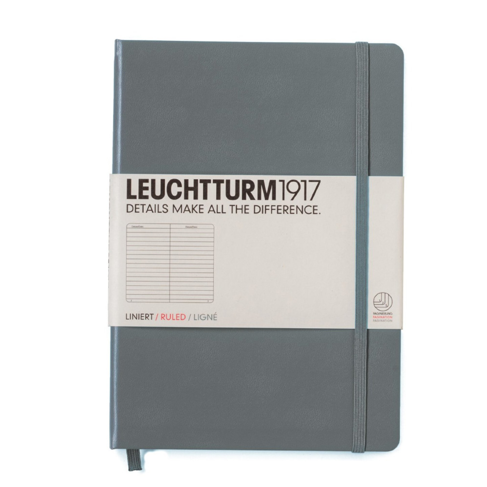 Leuchtturm Large Hardcover Lined Anthracite