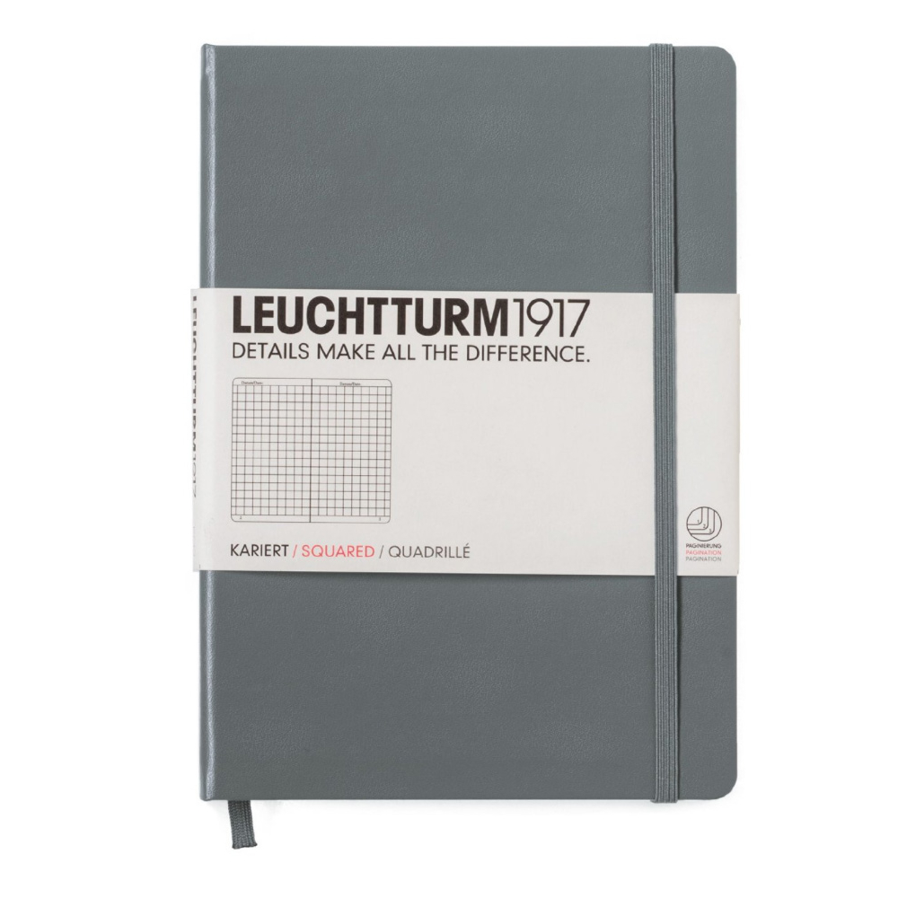 Leuchtturm Medium Hardcovr Squared Anthracite
